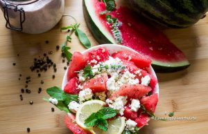 Watermelon Salad with Feta Cheese perfect for the summer