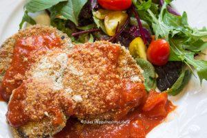 Eggplant Parmesan with Salad Jules-HappyHealthyLife Blog