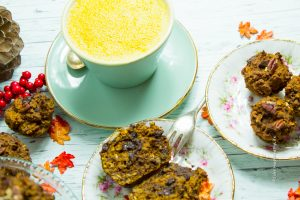 Chocolate Pumpkin Pie Muffin vegan, glutenfrei - Jules HappyHealthyLife