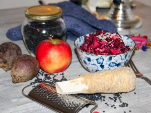 Ingredients for Beetroot Salad - Jules HappyHealthyLife