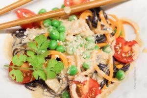 Noodles with Tahini Peanut Sauce