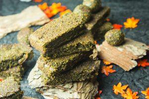 Matcha Sprouted Hemp Bars vegan, gluten-free