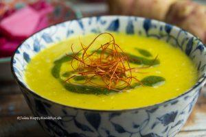 Jerusalem Artichoke Saffron Soup glutenfree vegan
