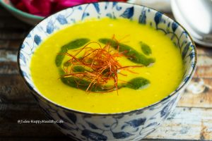 Topinambur Safran Suppe glutenfrei, vegan