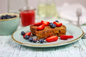 Vegan Recipe Strawberry Filled French Toast