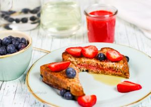 Recipe for vegan Strawberry Filled French Toast