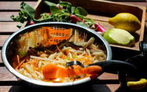 Fresh carrots, kohlrabi for Vegan Kohlrabi Coleslaw