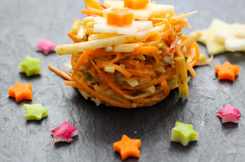 veganer kohlrabi coleslaw 4 jules happyhealthylife. Black Bedroom Furniture Sets. Home Design Ideas
