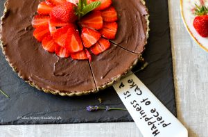 Perfect dessert for a birthday dinner or at Christmas - Raw Chocolate Ganache Tarte
