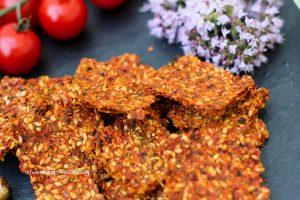 Gluten free, raw, vegan Mum's Turmeric Crackers against arthritis
