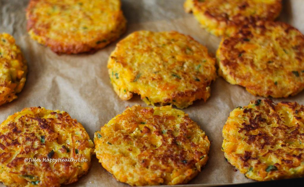 Rezept für vegetarische, glutenfreie Kürbis Kartoffel Reibekuchen für den Herbst