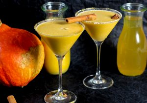 Fall inspired recipe for Pumpkin Spiced Martini with Pumpkin Spiced Vodka