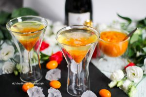 Spiced Kumquats with Sparkling Wine - Recipe for a great Aperitif