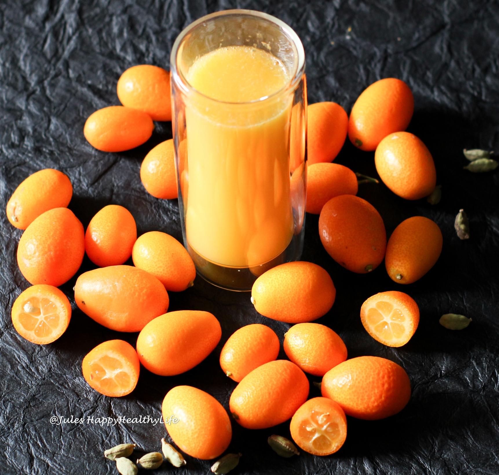 Kumquats werden zu Gewürzkumquats mit Kardamom, Vanille und Sternanis aufgegossen mit einem Winzersekt von Balthasar Ress