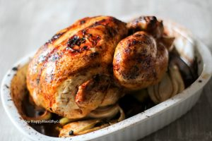 Recipe for oven roasted Tamarind Lemongrass Roast Chicken