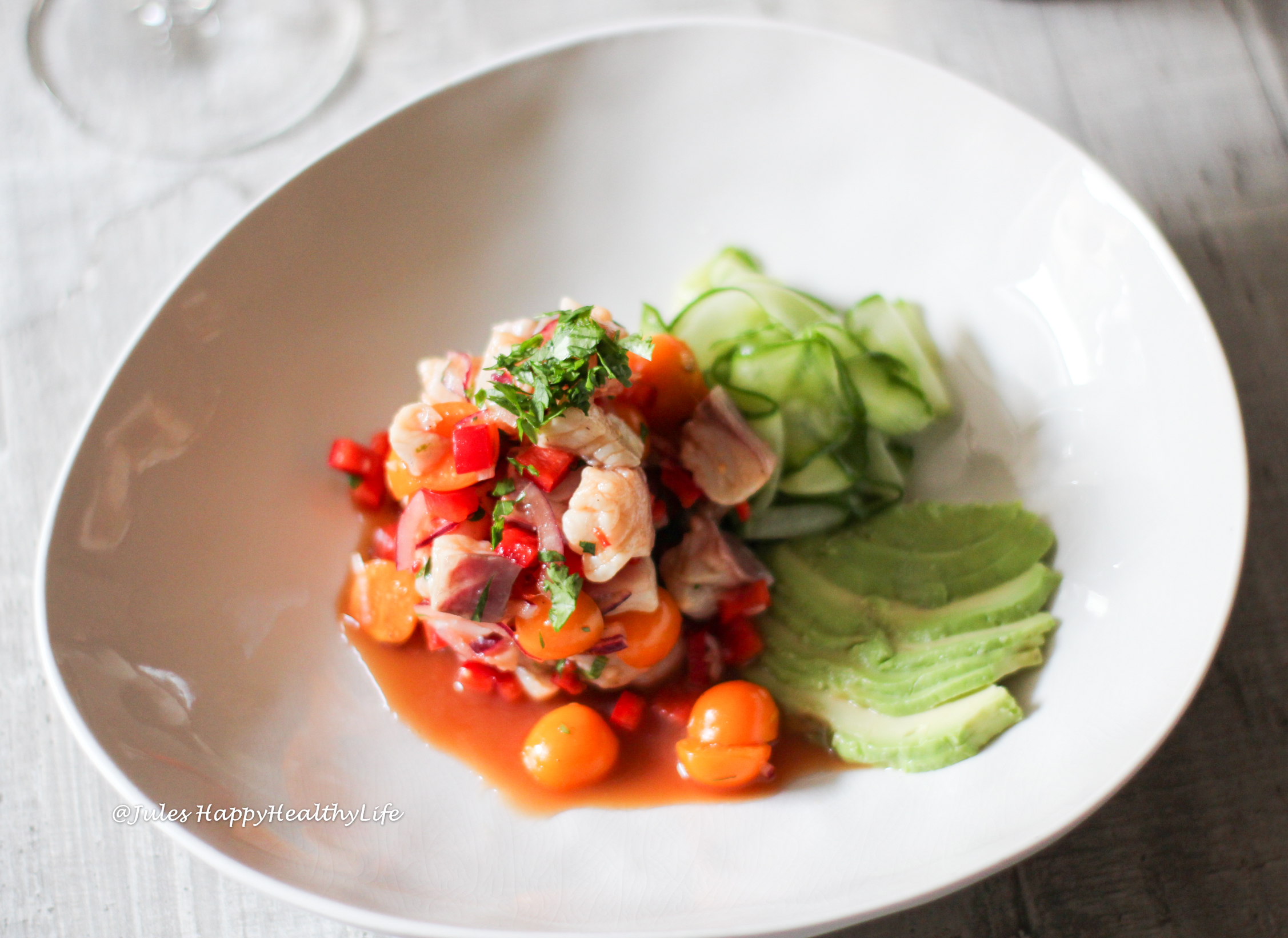 Recipe for Ceviche of Gilthead and Physalis
