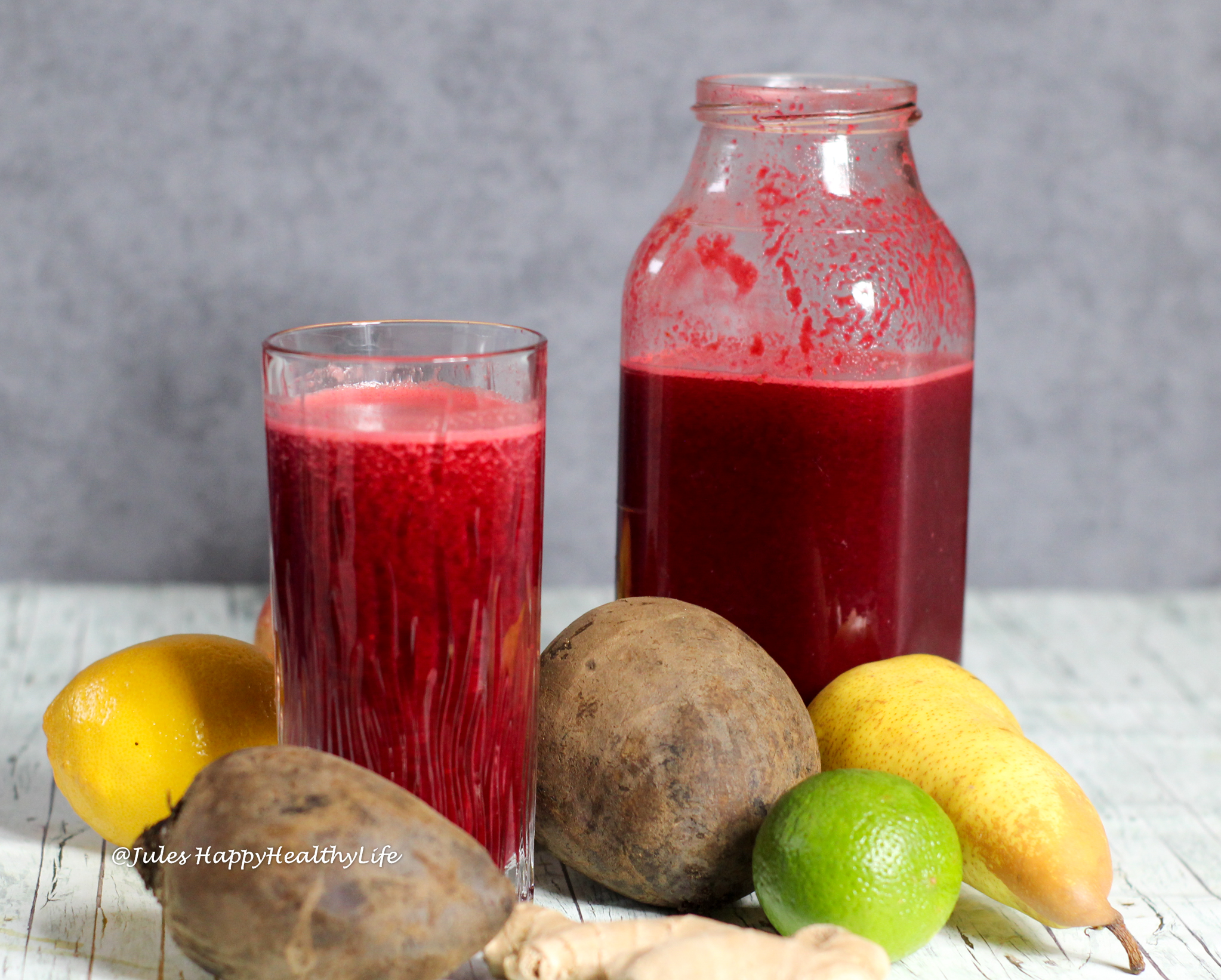 Rezept für Detox Rote Bete Ingwer Saft
