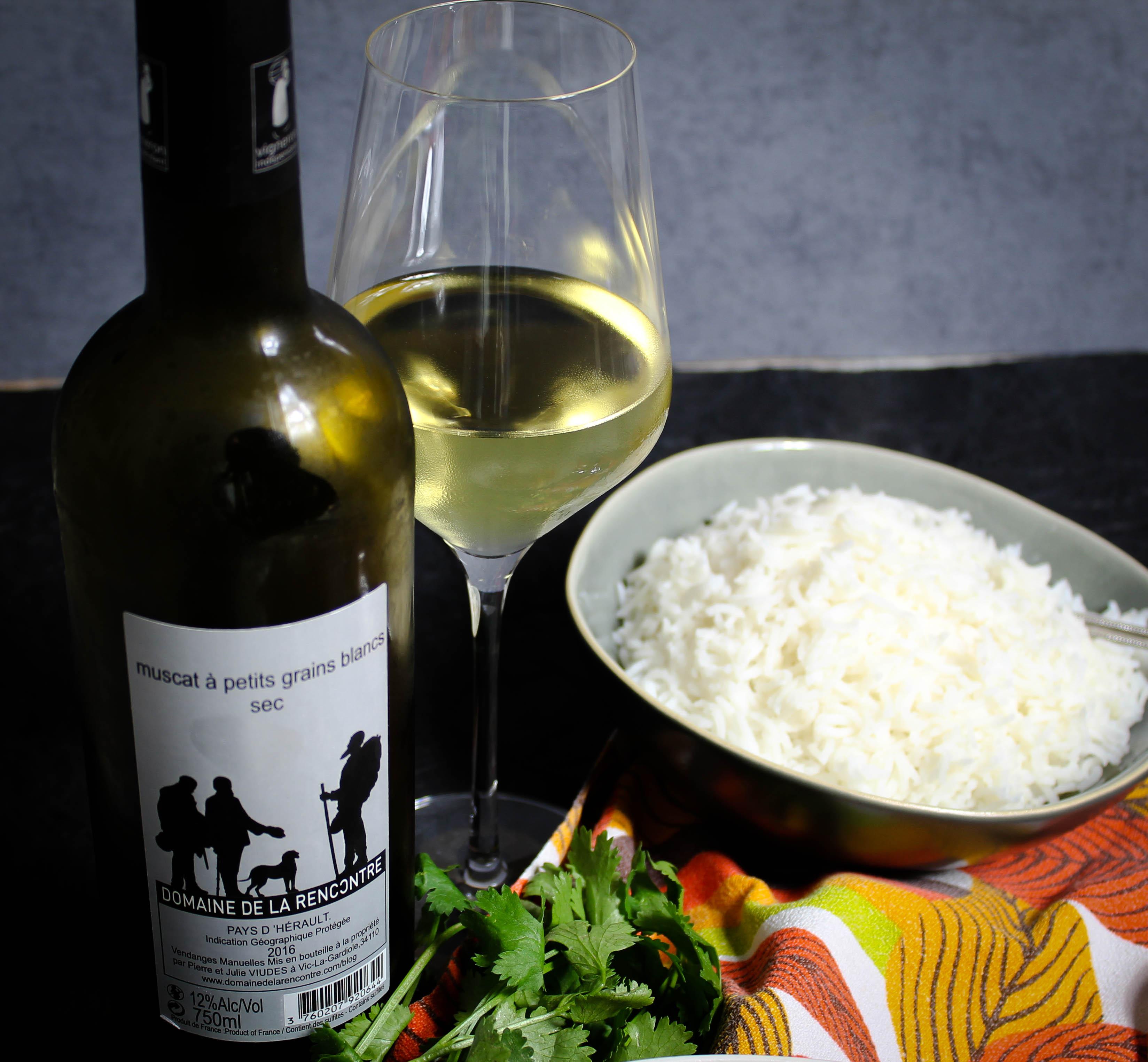 Muscat à petits grains blancs sec von Domaine de la Recontre Weinbegleitung zum Gelben Gemüsecurry