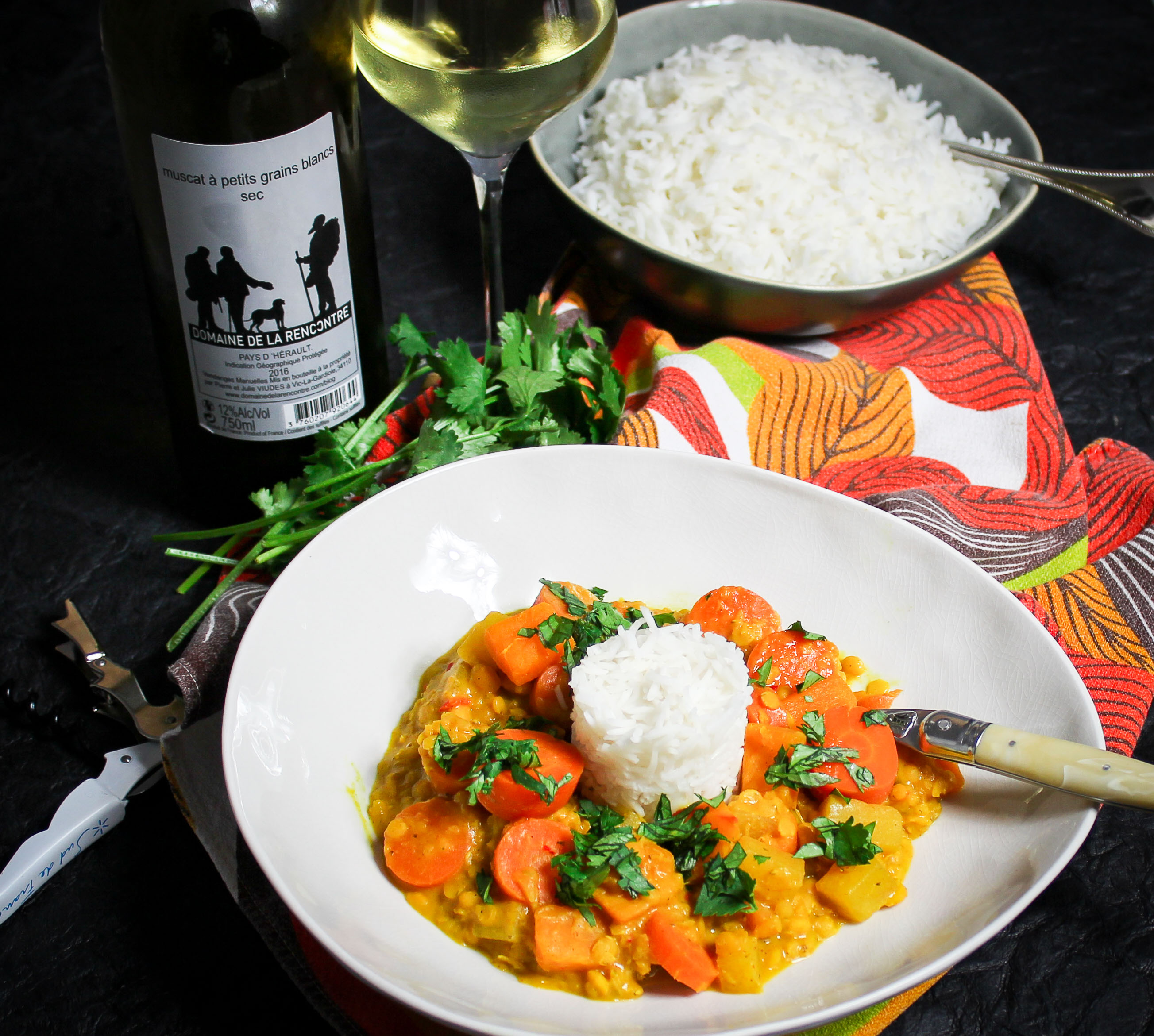 Vegan Yellow Vegetable Curry with Coconut Milk