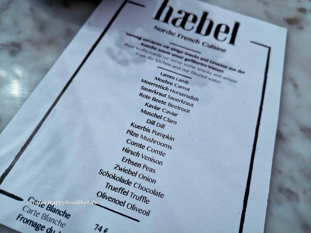 November Menü im Restaurant haebel