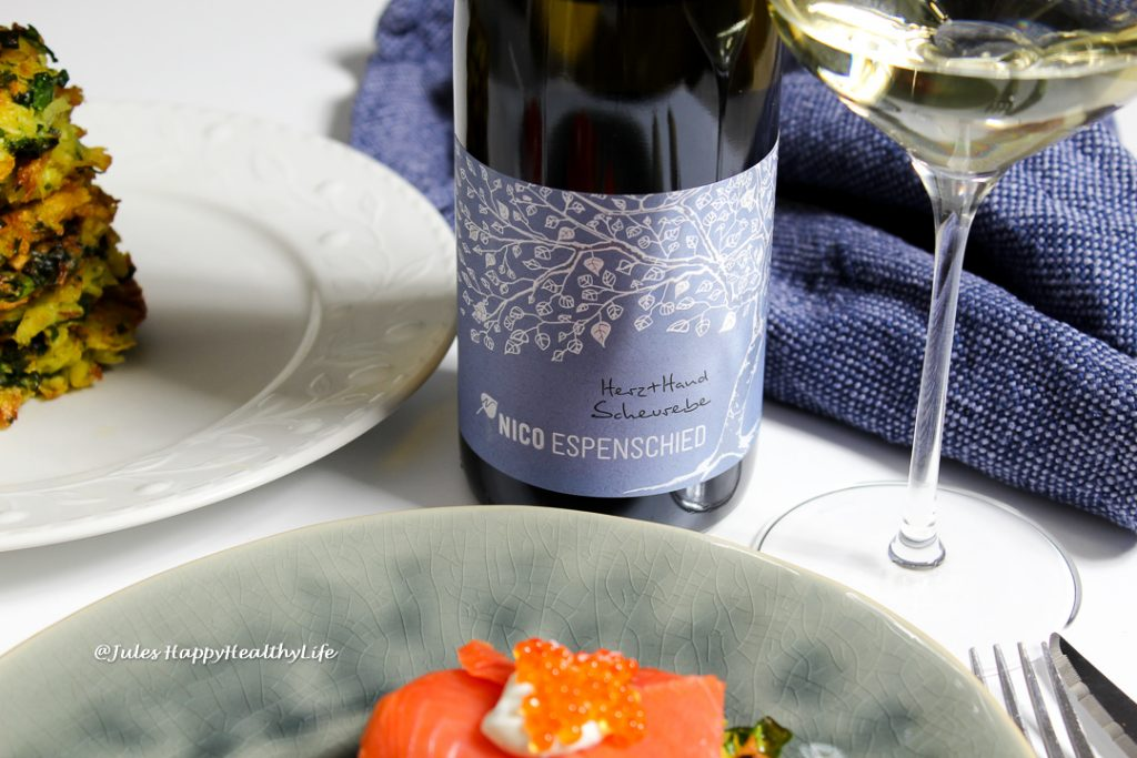 2017 Herz+Hand Scheurebe trocken Qba von Nico Espenschied - meine Weinbegleitung zu Latkes mit Mangold