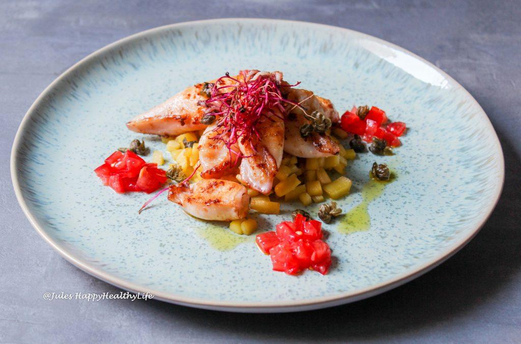 Calmaretti mit Pastinaken inspiriert von einem Gericht im Eataly