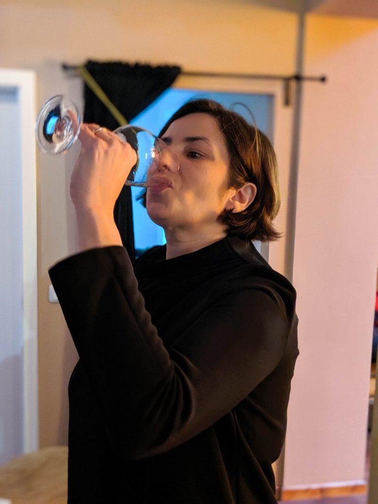 Sommelier Carine Patricio beim Wein Tasting Vinho Verde
